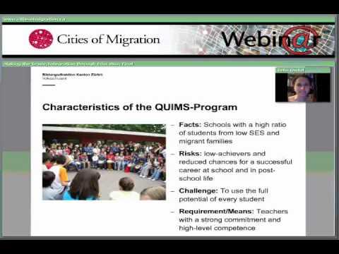 Webinar Part 4: Integration through Education in Toronto and Zurich - Selin Ondul