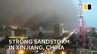 'Interstellar-like' sandstorm hits Xinjiang, China