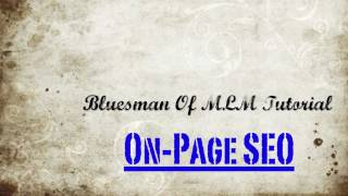Search Engine Optimization Tutorials On Page SEO (Search Engine Optimization Tutorials)