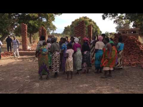 Malawi village welcome ceremony