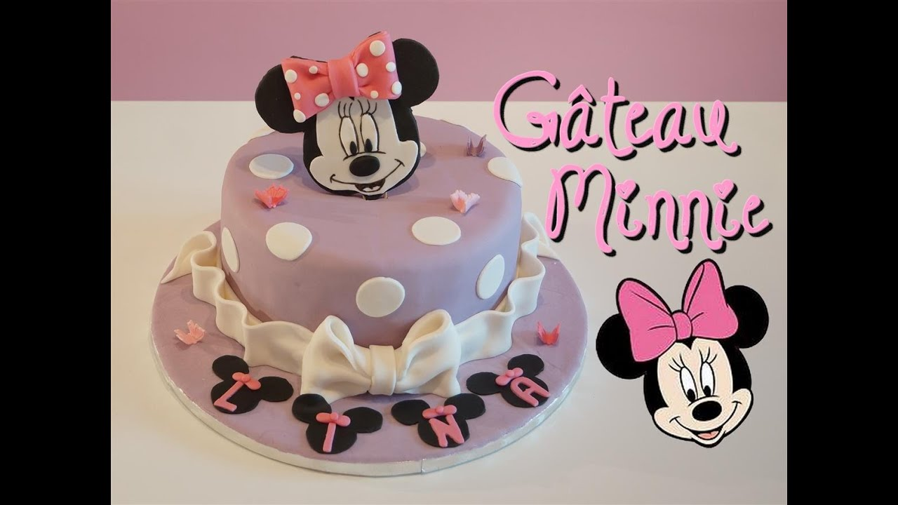 Exceptionnel Gâteau Minnie pâte à sucre | Minnie Cake | Cake design - YouTube FA02