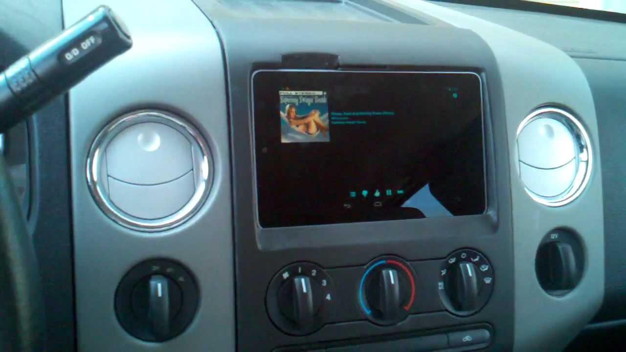 2006 Ford F150 Radio Wiring Harness Removable Nexus 7 Dash Install F150 Youtube