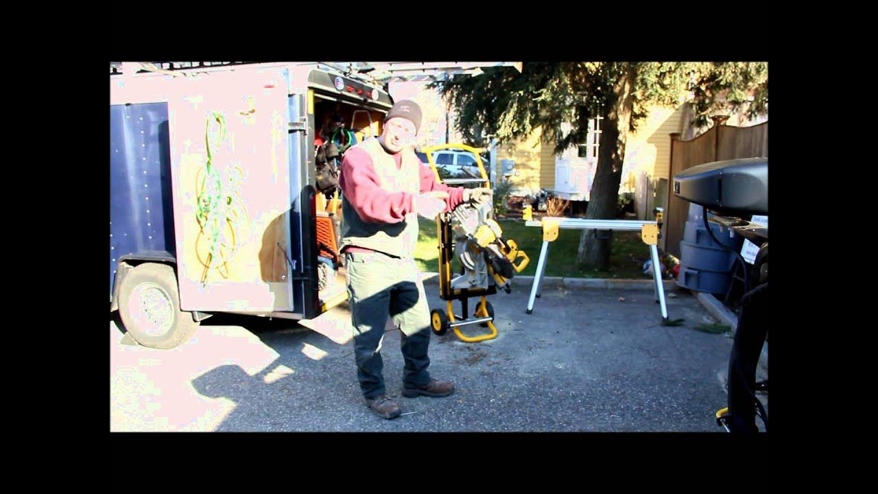 Dewalt Rolling Miter Amp Planer Stand Dwx726 Review Youtube