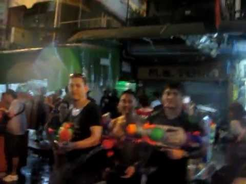 Songkran @ Night @ Khao Sarn Road 2012