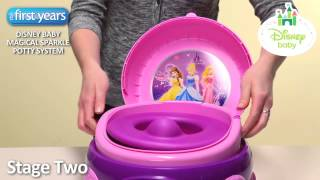 Disney Princess Magical Sparkle 3 in 1 Potty System from The First Years