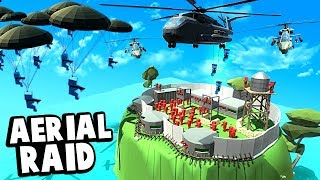 Helicopters and Paratroopers Invade an Island Fort in Ancient Warfare 3!