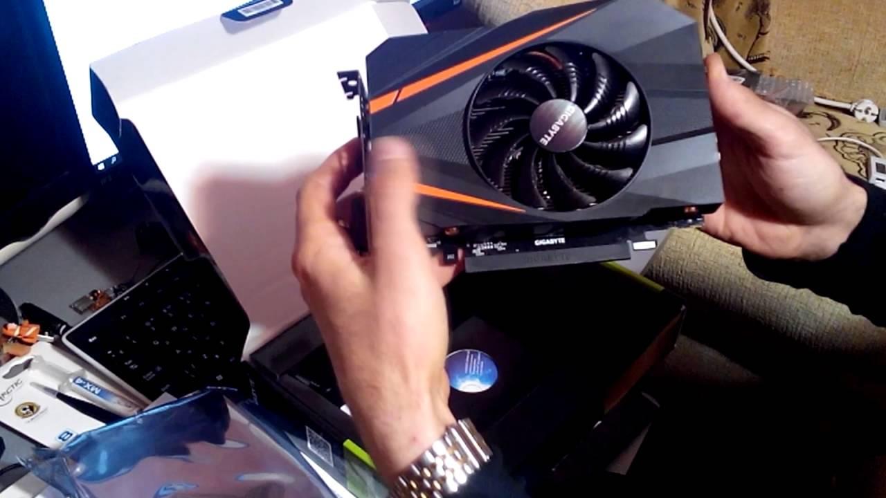 8413f7d65 Распаковка видеокарты Gigabyte GeForce GTX 1060 Mini ITX OC 3GB - YouTube