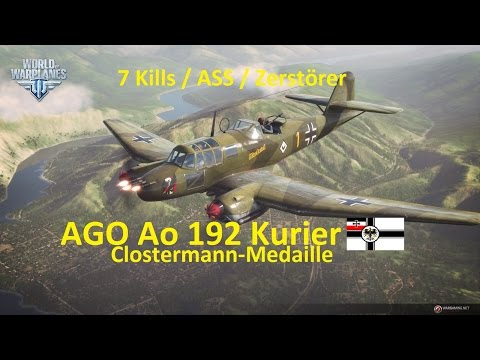 World of Warplanes Replay 0005 (deutsch) AGO Ao 192 Kurier - Boden/Luftkampf