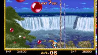 Super Buster Bros. - Panic Mode, Level 15 (2-player w/Joe) (4/24/10) (Buster Bros. Collection, PS1)