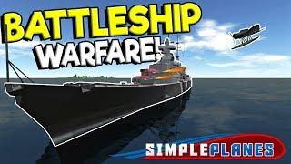 BATTLESHIP WARFARE & BEST GROUND ATTACK FIGHTER! - Simple Planes Creations Gameplay - Best Creations