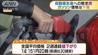 自動車生産への懸念増 ガソリン価格は値下がり(20/02/06)