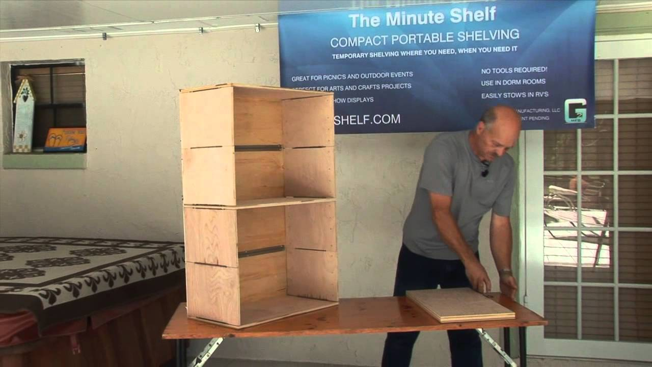 The Minute Shelf Compact Portable Shelving Youtube