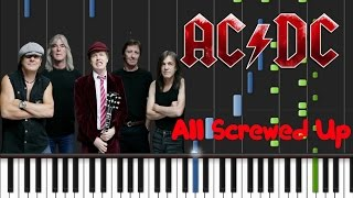 AC/DC - All Screwed Up [Piano Cover Tutorial] (♫)