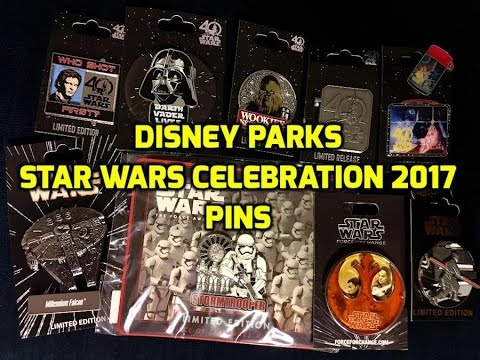 Disney Parks Pins at Star Wars Celebration 2017! - YouTube