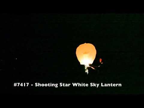 Shooting Star White Sky Lantern