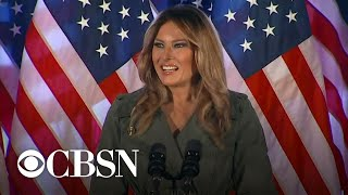 First lady Melania Trump campaigns in Pennsylvania, talks about COVID recovery