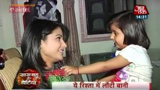 Baby Naksh (Bani) On The Set Of Yeh Rishta Kya Kehlata Hai - SBB - 2nd April 2015