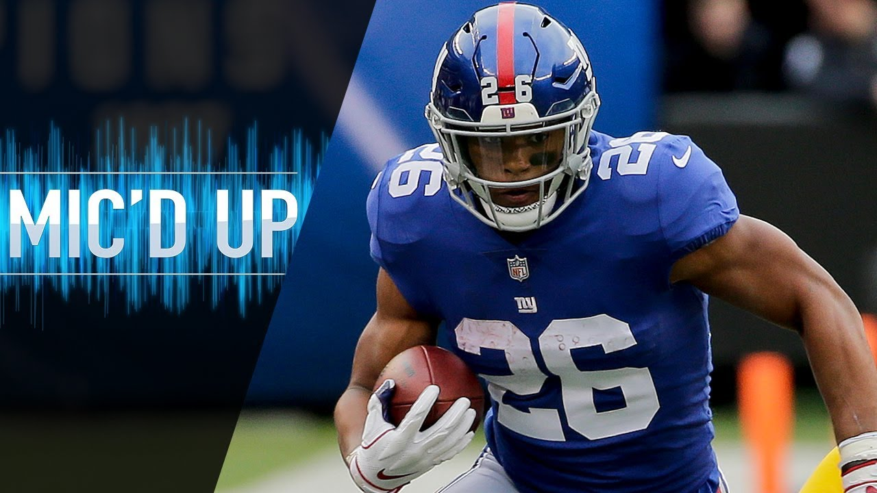 saquon-barkley-mic-d-up-vs-redskins-that-s-ap-bro-you-ever-watch-his-highlights-nfl-films