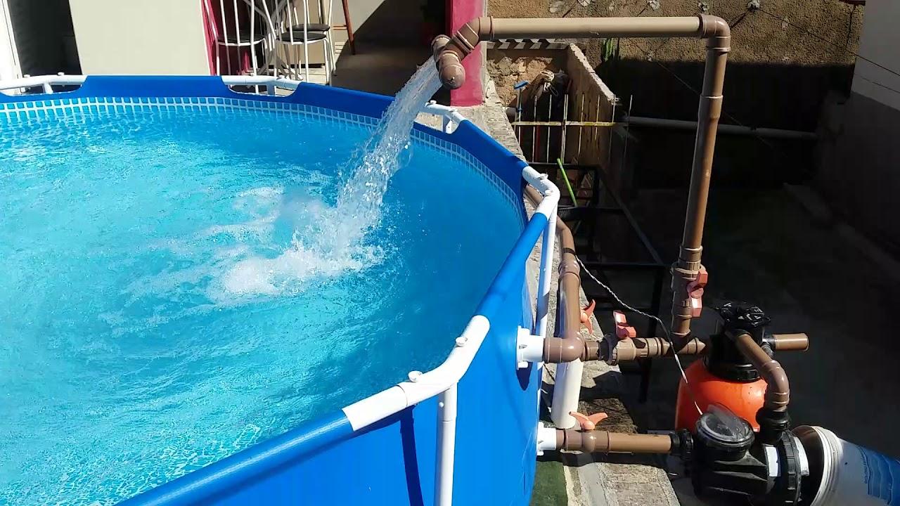 Piscina intex com bomba e filtro de areia youtube for Filtro de piscina intex