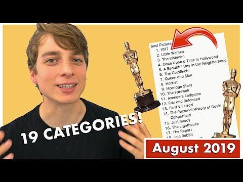 2020-oscar-predictions-(19-categories)- -august-2019