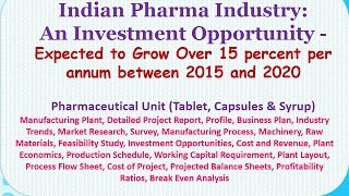 Indian Pharma Industry: An Investment Opportunity