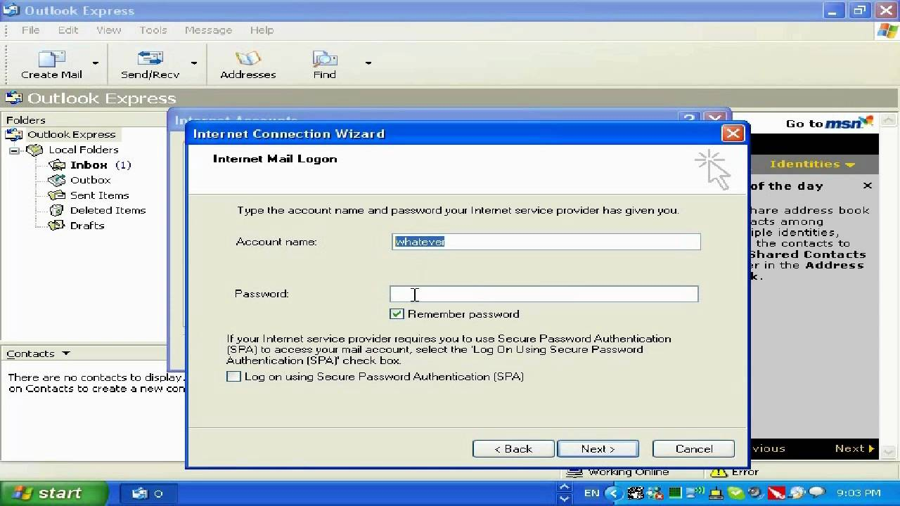 Setting Up Outlook Express And Comcast Email Hd Hq Youtube