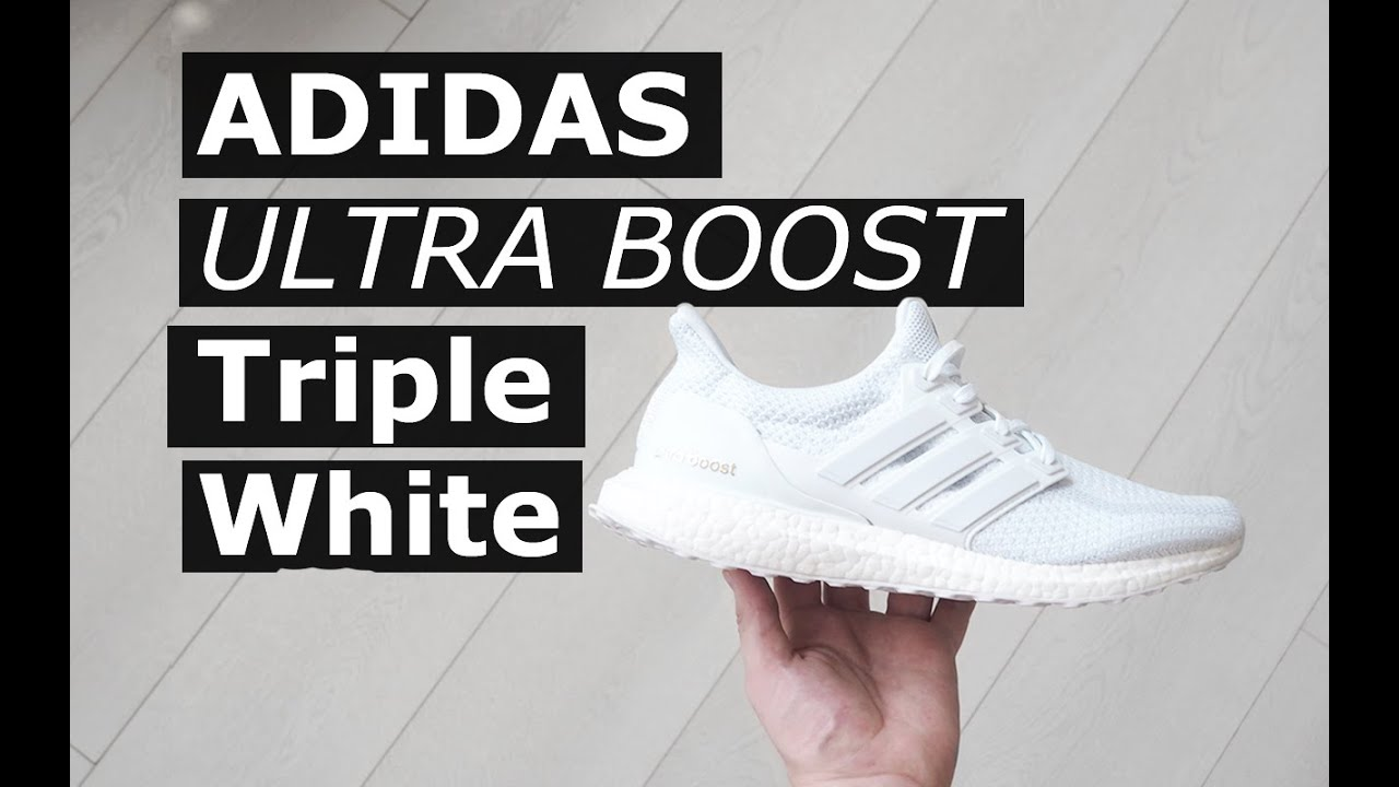 Adidas Ultra Boost Triple White  36693aa98