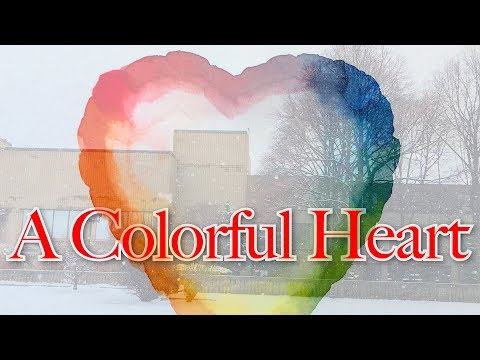 A colorful heart - how to mix any colors from the three primary colors in watercolor