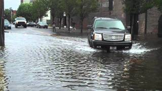 Walking around Red Hook Brooklyn in the eye of hurrican Irene