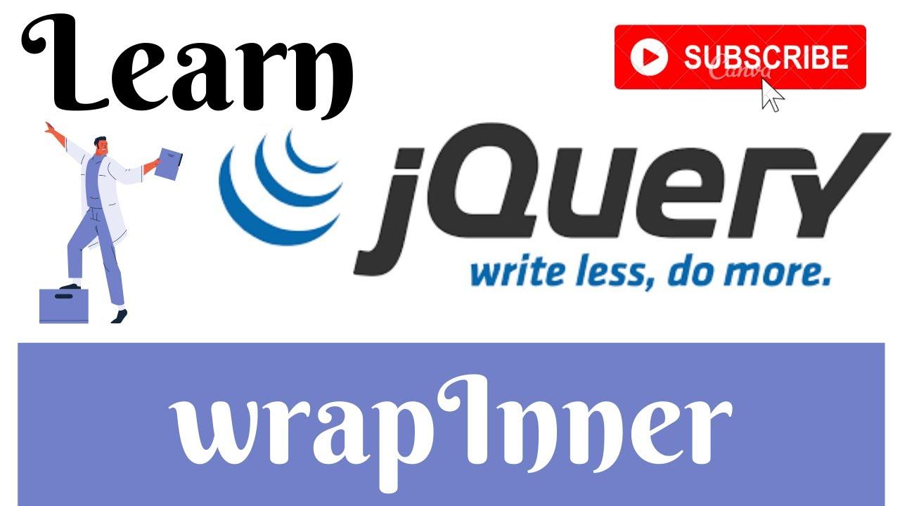 jQuery Lecture - 24 WrapInner Method Tutorial in Hindi / Urdu