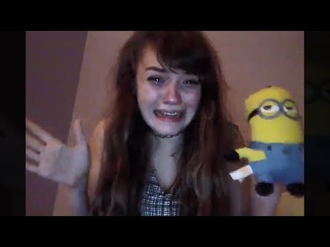 girl is extremely afraid of minions..