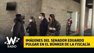 Imágenes del senador Eduardo Pulgar en el búnker de la Fiscalía