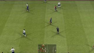 Pro Evolution Soccer 2009 demo Gameplay Barcelona v Manchester United (1st Half)