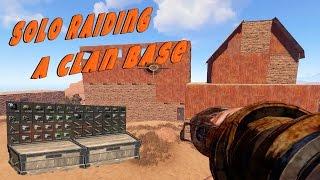 Solo Raiding a Clan Base | Rust Solo Survival - Cave Dweller: Part 5