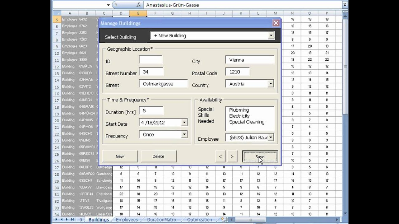 Work Schedule Optimization Tool Excel Youtube