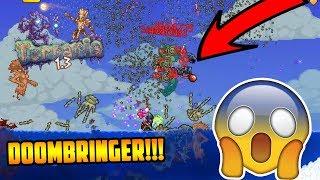 300k+ DAMAGE MODDED SWORD! TERRARIA DOOMBRINGER - INSTA HIT BOSSES! (Terraria 1.3 PC mods)