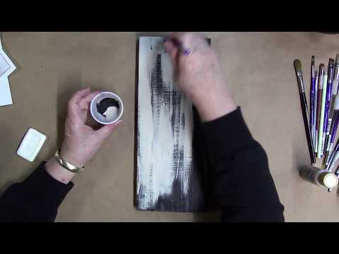 Painting a Distressed Barnwood Background with Acrylics