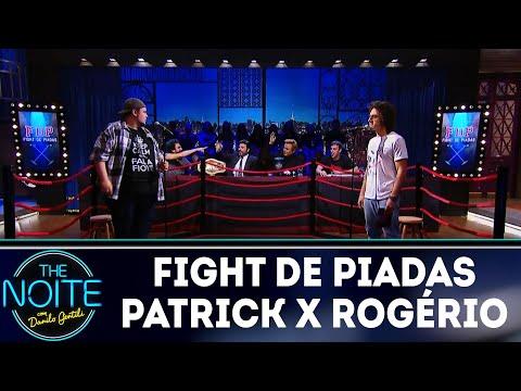Fight de piadas Patrick Maia x Rogério Morgado | The Noite (21/03/18)