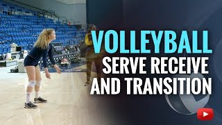 Volleyball Serve Receive, Transition And Hit - Coach Ashlie Hain