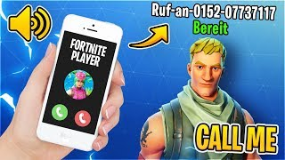 my HANDYNUMBER as FORTNITE name! 📞😰 the father of a child calls, then this happens...