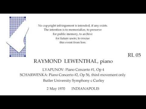 RAYMOND LEWENTHAL plays LYAPUNOV and SCHARWENKA live  INDIANAPOLIS 1970