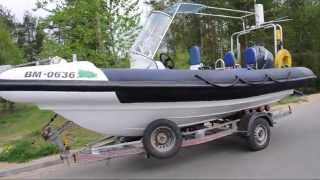 RIB FOR SALE (Rigid Inflatable Boat) OSPREY X 20 SPECIAL PROJECT 2000 with trailer