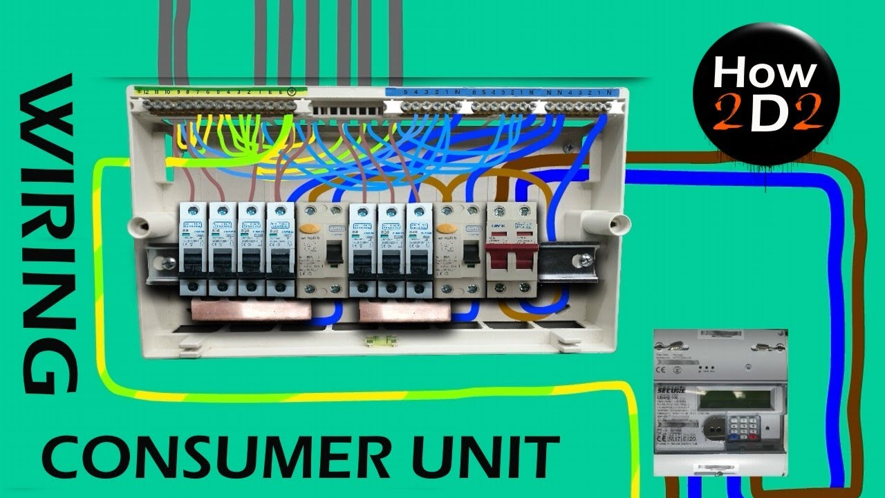 How to wire Consumer unit Wiring Dual Split Consumer Unit Fuse Box Wired  Explained Tutorial RCD MCB - YouTube | Split Load Consumer Unit Wiring Diagram |  | YouTube