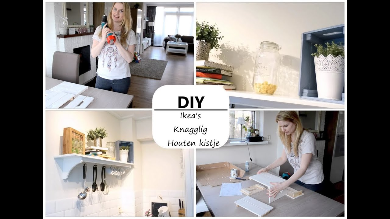 DIY Wooden Crate Shelve , simple and easy 2016-10-19