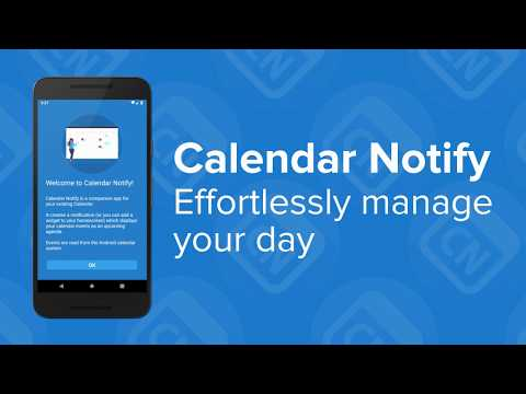Effortlessly manage your day with Calendar Notify for Android!