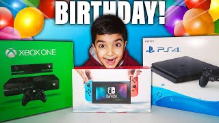IT'S MY LITTLE BROTHERS BIRTHDAY! | I Surprised Him With A PS4, XBOX ONE, NINTENDO SWITCH AND MORE!