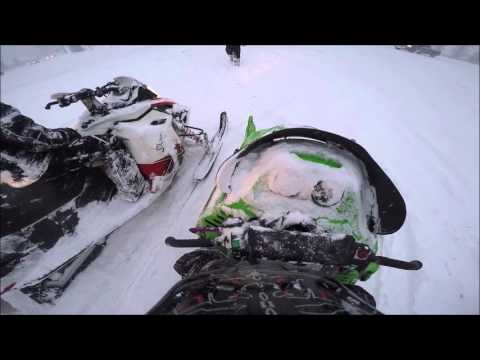 Cicero NY Snowmobiling January 2016