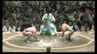 荒鷲 × 琴勇輝 2015/5/14 大相撲夏場所 5日目 ハイライト 阿夢露 (4勝1...