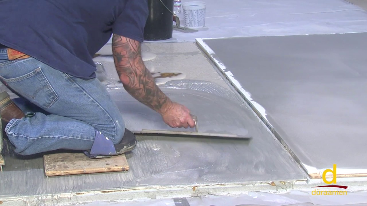 how to encapsulate vinyl tile with concrete topping part 2 3