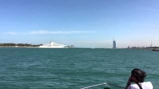 Sheikh Yacht and Burj Al Arab at Dubai Marina
